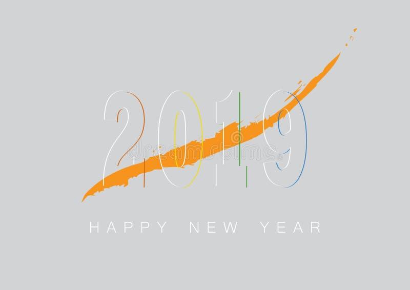 Happy new year 2019 vector illustration vector illustration