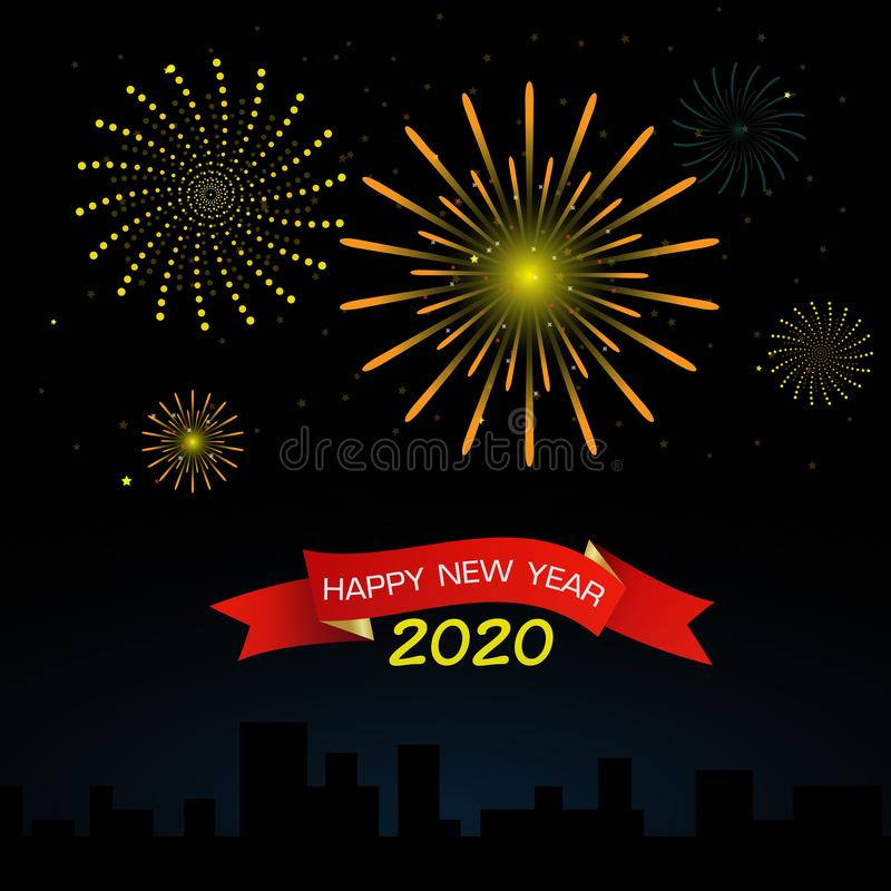 Happy new year  2020 vector royalty free stock images