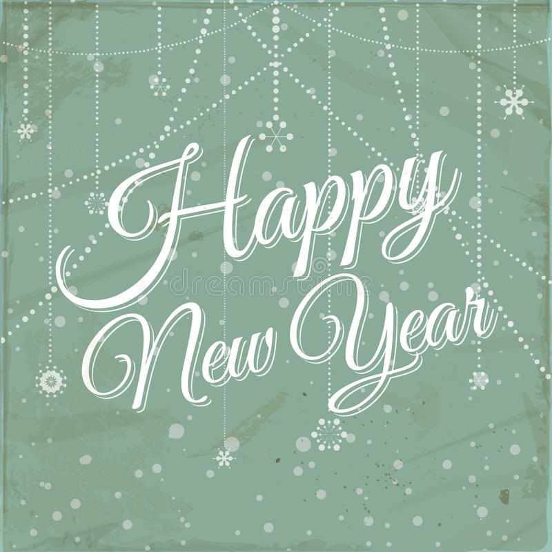 Happy new year vintage background vector illustration