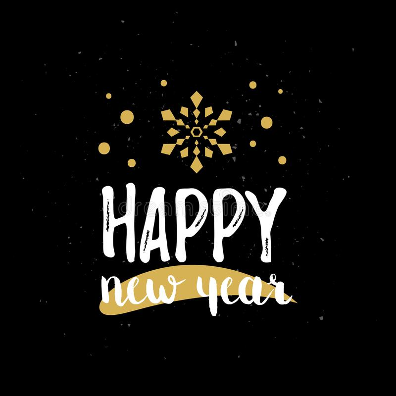 Happy New Year typography. Vector illustration royalty free illustration