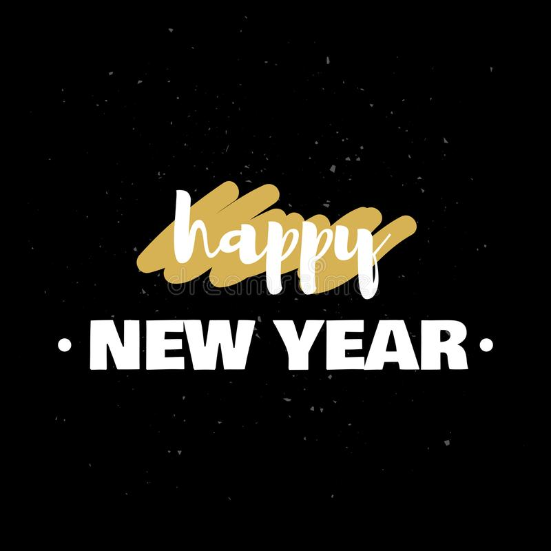 2018 Happy New Year typography. Vector illustration vector illustration