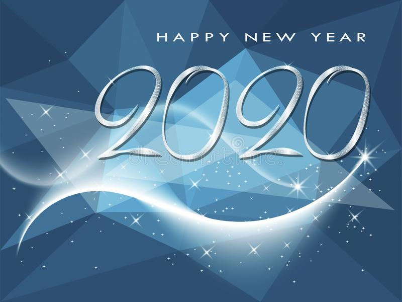 Happy New Year 2020 winter holiday greeting card royalty free stock photos