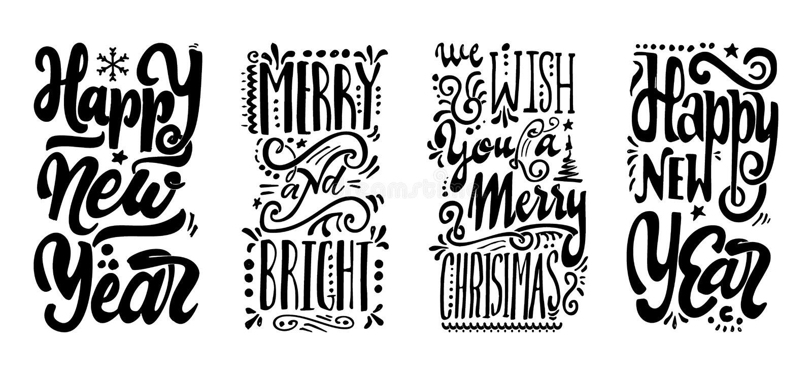 Download Happy New Year We Wish You A Merry Christmas And BrightHand