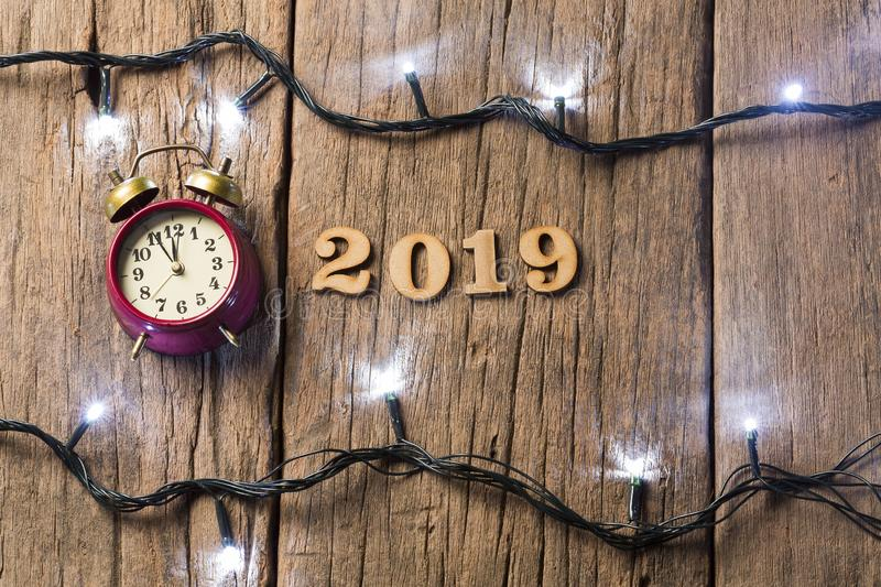 Happy New Year - Wooden background stock photo
