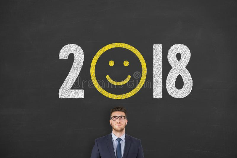 Happy New Year 2018 stock photos