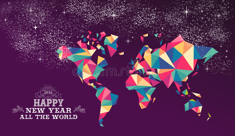 Happy new year 2016 world triangle hipster color stock vector download happy new year 2016 world triangle hipster color stock vector illustration of celebration gumiabroncs Image collections