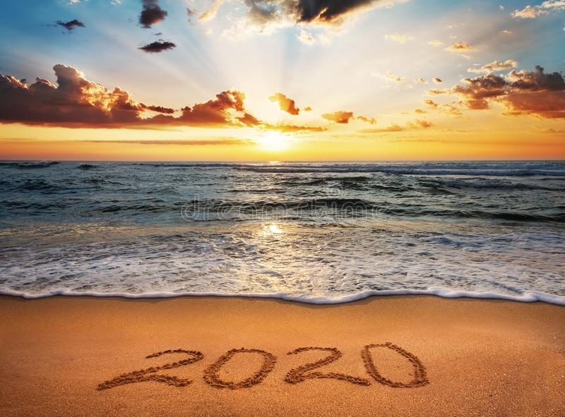 Happy New Year 2020! stock photos