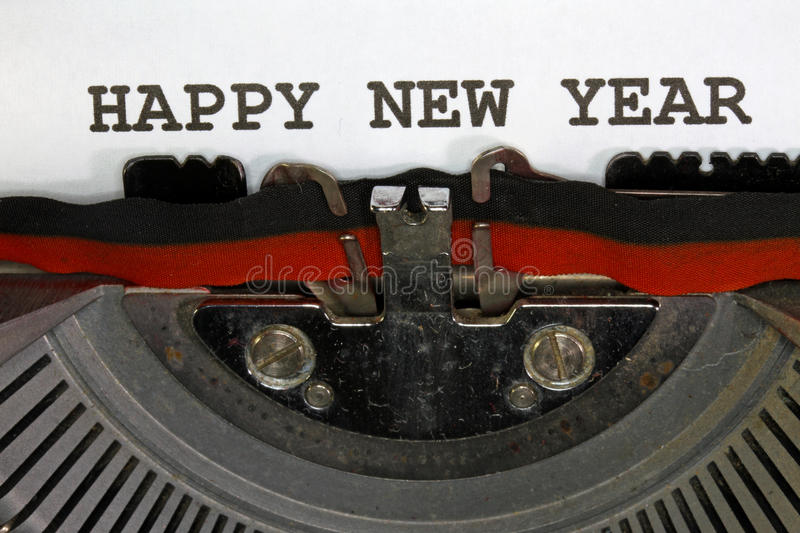 Happy new year written. With black ink stock photos