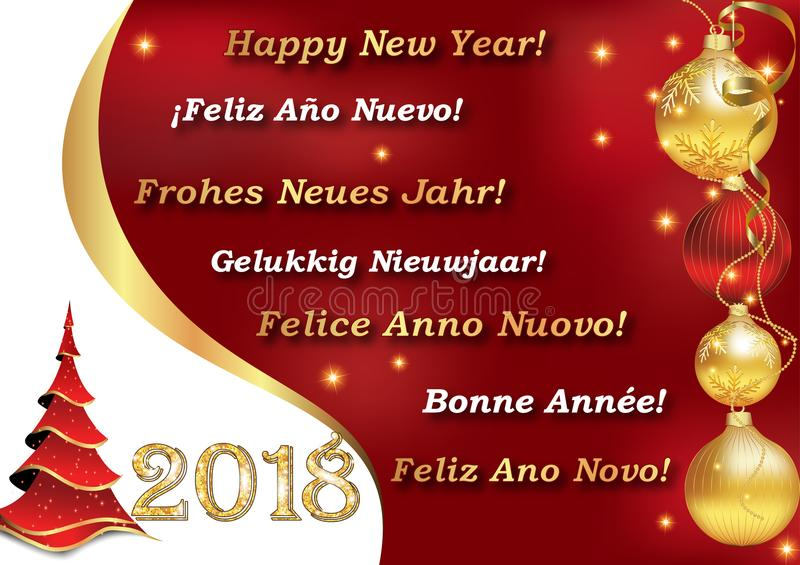 Happy new year 2018 written in many languages greeting card for the download happy new year 2018 written in many languages greeting card for the winter holidays m4hsunfo
