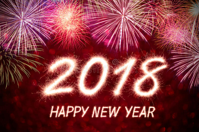 Happy new year 2018 stock photography