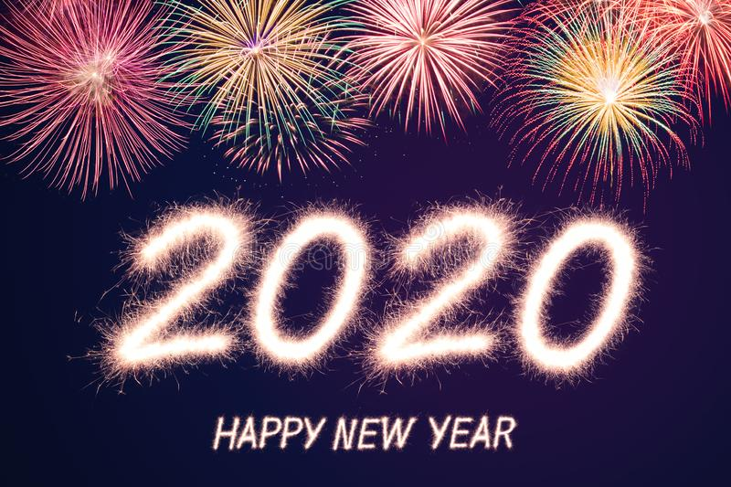 Happy new year 2020 stock photography