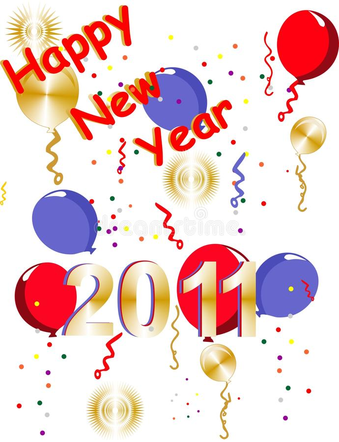 Happy New Years 2001 Stock Photography