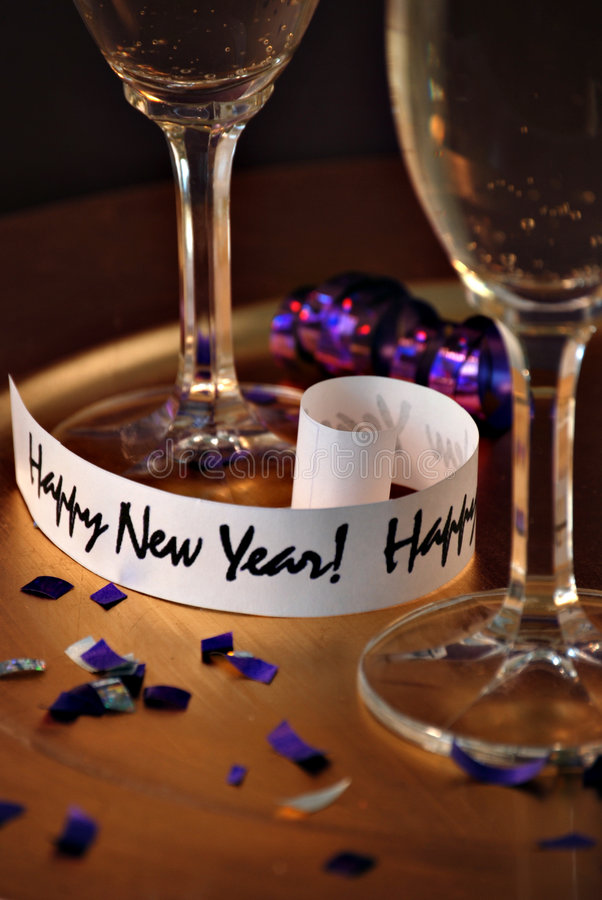 Happy new years stock photo