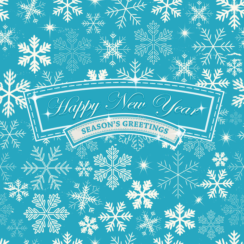Happy New Years Eve Background. Illustration of a seamless abstract happy new years eve wallpaper, for winter seasons greetings, december and january holidays royalty free illustration