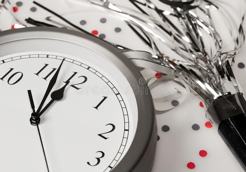 Download Happy New Years Eve Celebration Countdown Clock Stock Image - Image: 12407071