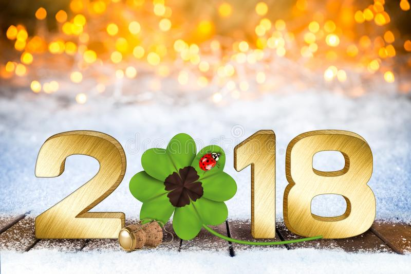 Happy new years eve silvester background stock photos