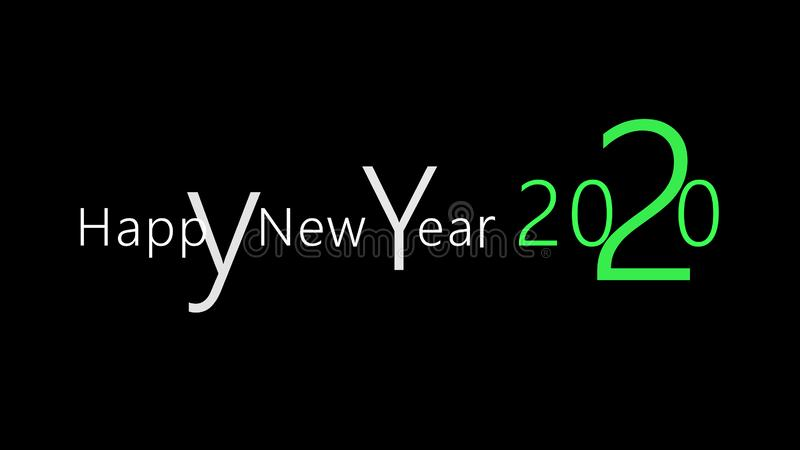 Happy New Years 2020 lovely easy design concept stock illustration
