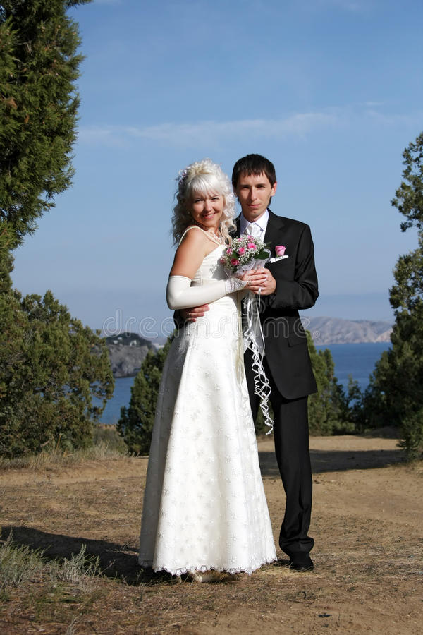 Free Happy Newly-married Couple Stock Images - 13550444