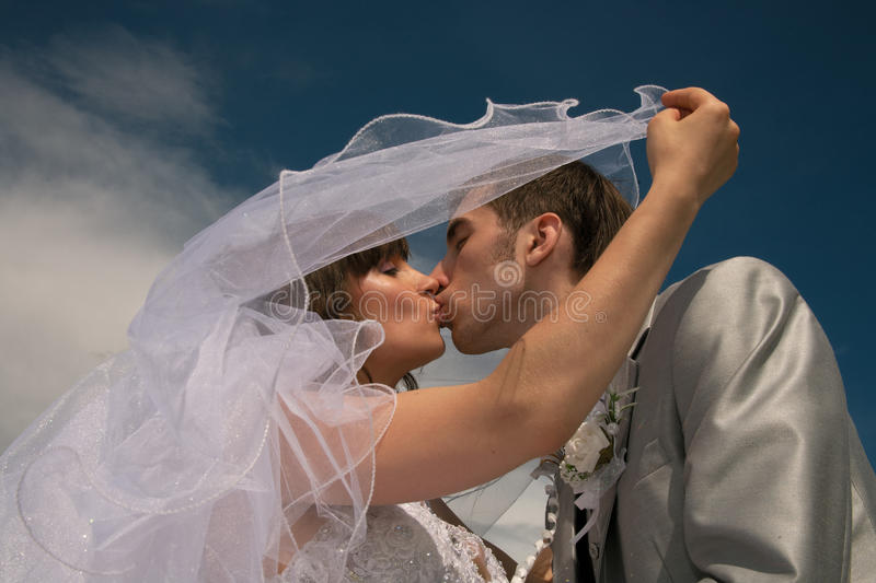 Download Happy newly-married couple stock image. Image of novel - 14956399