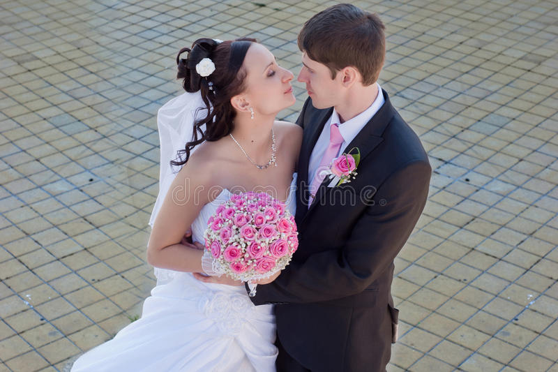 Happy Newly-married Couple Stock Images
