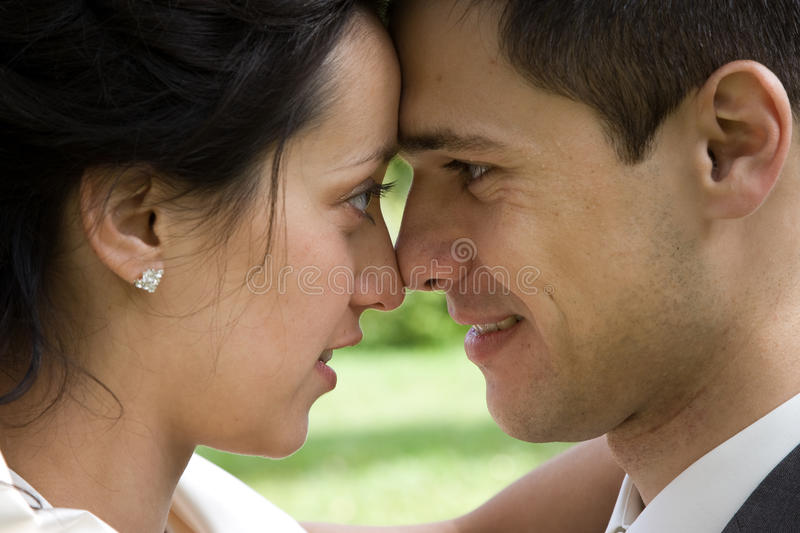 Download Happy newlywed couple stock photo. Image of happy, foreheads - 11810844