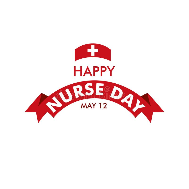 Happy Nurse Day Vector Template Design Illustration royalty free illustration
