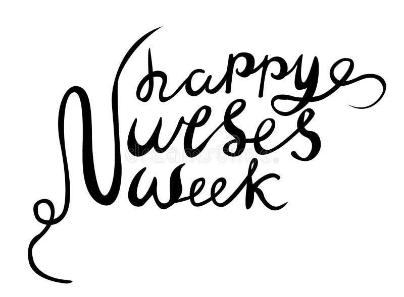 Happy Nurses Week vector, hand lettered happy nurses week vector. Hand drawn vector royalty free illustration