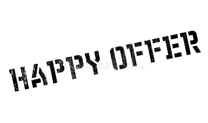 Happy Offer rubber stamp. Grunge design with dust scratches. Effects can be easily removed for a clean, crisp look. Color is easily changed royalty free illustration