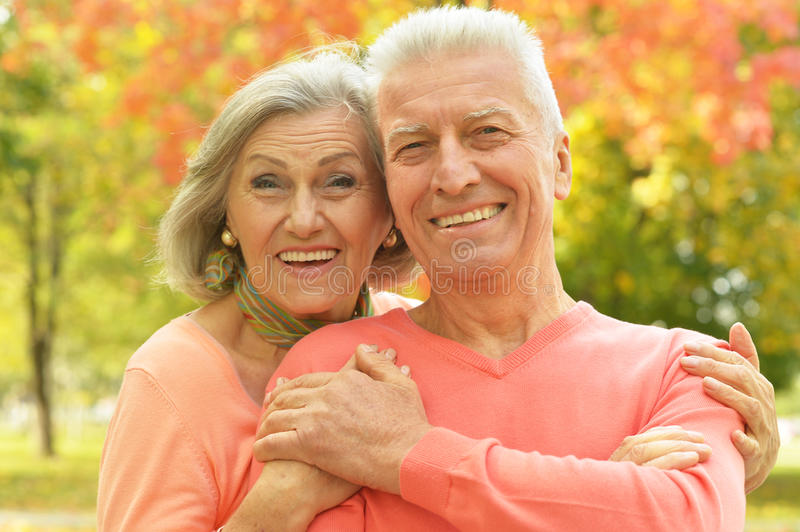 Happy Old Couple Ready For Picnic Stock Photo - Image of
