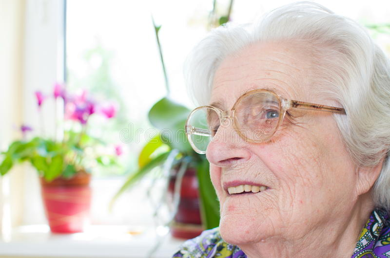 Download Happy Old Gray-haired Woman Stock Photo - Image: 26167932