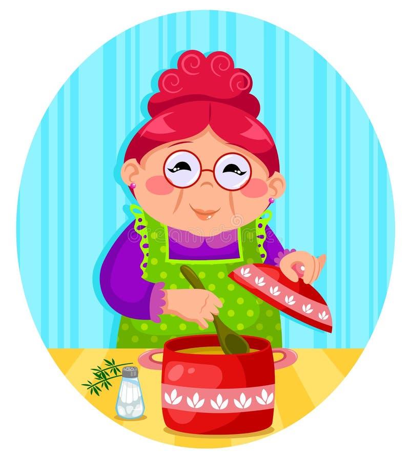 Download Grandmas cooking stock vector. Image of parent, home - 29922616