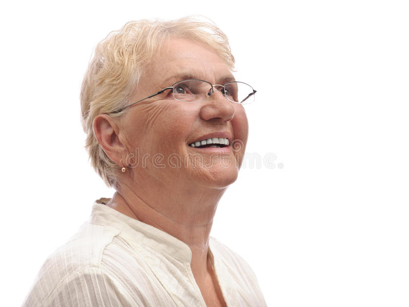 Download Happy old lady looking up stock image. Image of looking - 20565319
