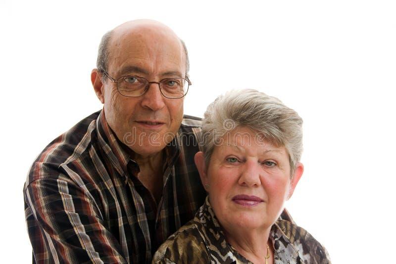 Happy older couple stock photography