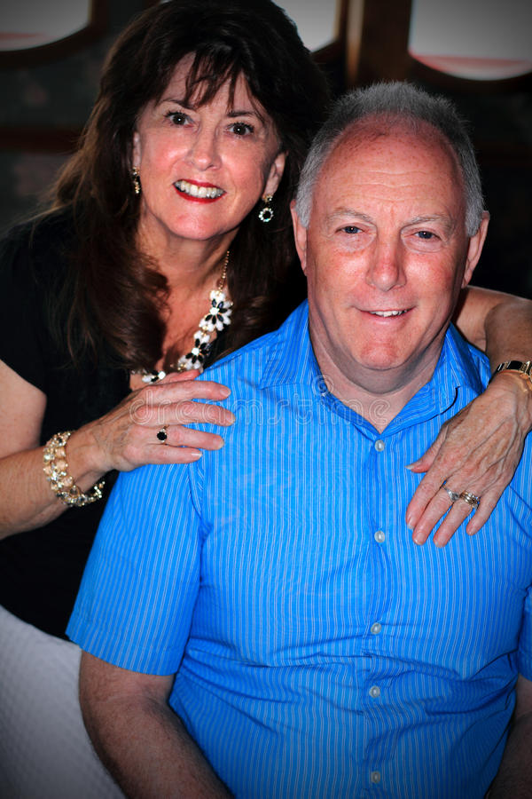 Happy Older Couple royalty free stock image