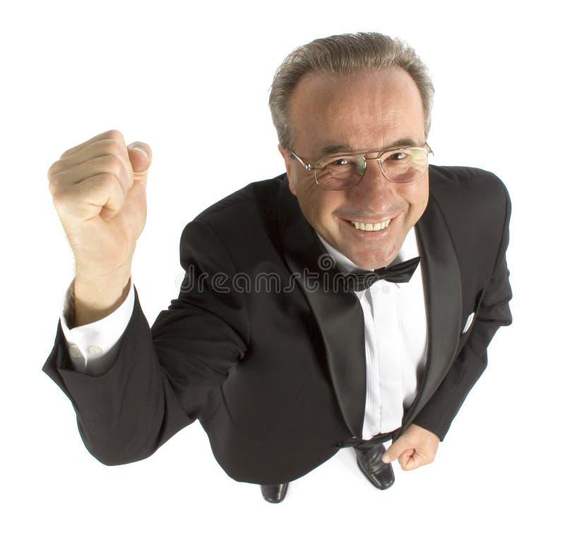 Happy older man stock image