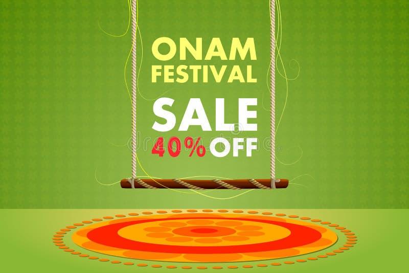 Happy Onam festival sale. Vector illustration of Happy Onam festival sale stock illustration