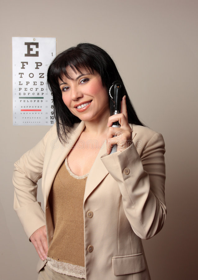 Happy Optometrist stock image