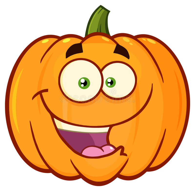Free Happy Orange Pumpkin Vegetables Cartoon Emoji Face Character With Expression Stock Photos - 96794133
