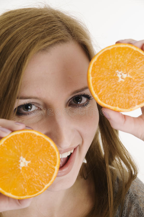 Download Happy with oranges near stock image. Image of desire - 14855861