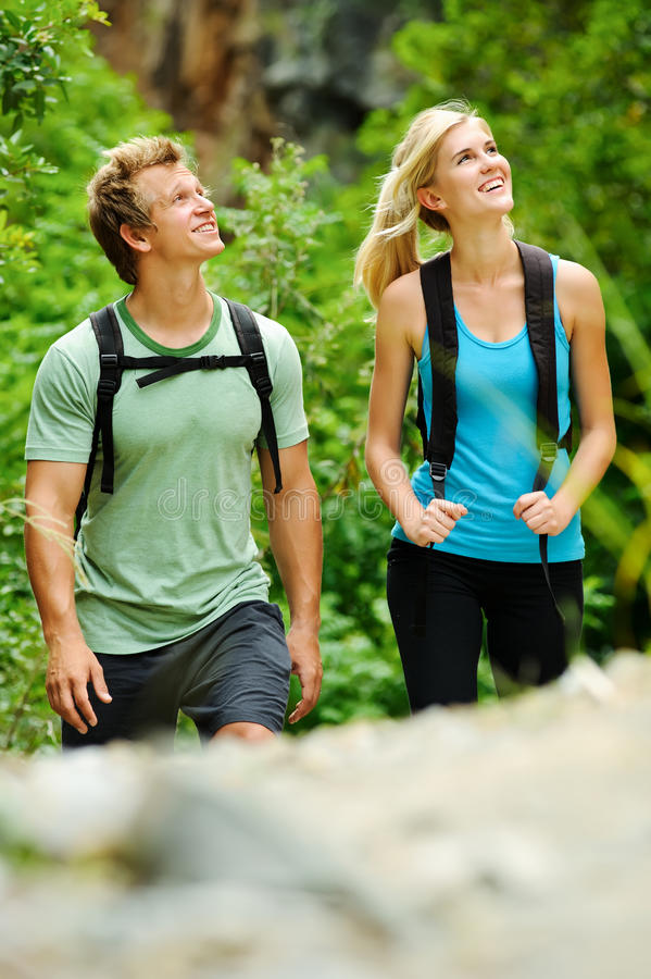 Download Happy outdoor couple stock image. Image of blonde, exercise - 18531931