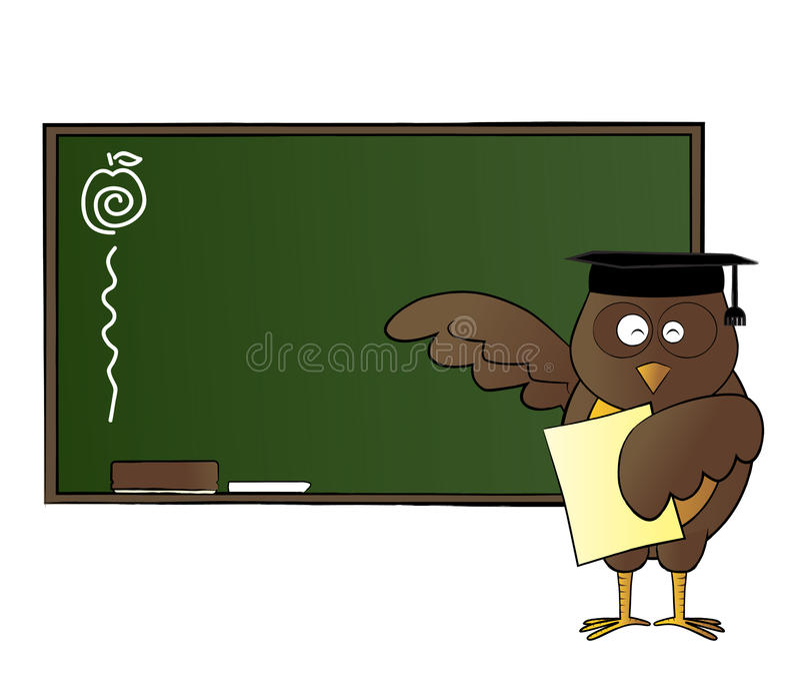 Download Happy Owl Teaching In Class Stock Vector - Image: 25726724
