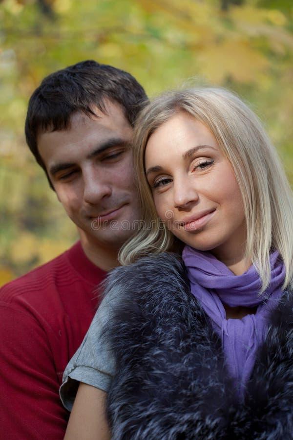 Happy pair stock photo