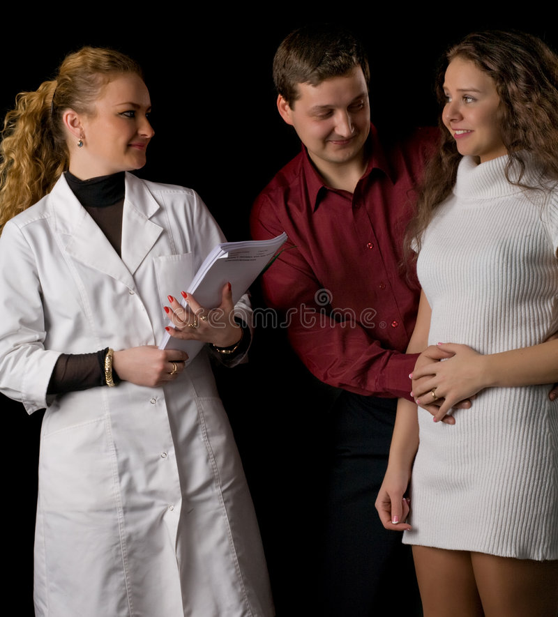 Download Happy pair and doctor stock photo. Image of husband, isolated - 8859416