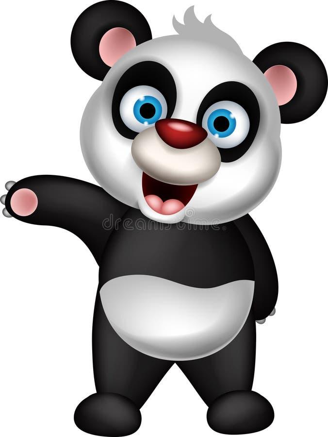 Happy panda cartoon posing. Illustration of happy panda cartoon posing vector illustration