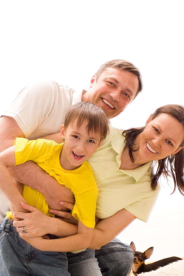 Happy parents with children royalty free stock photos