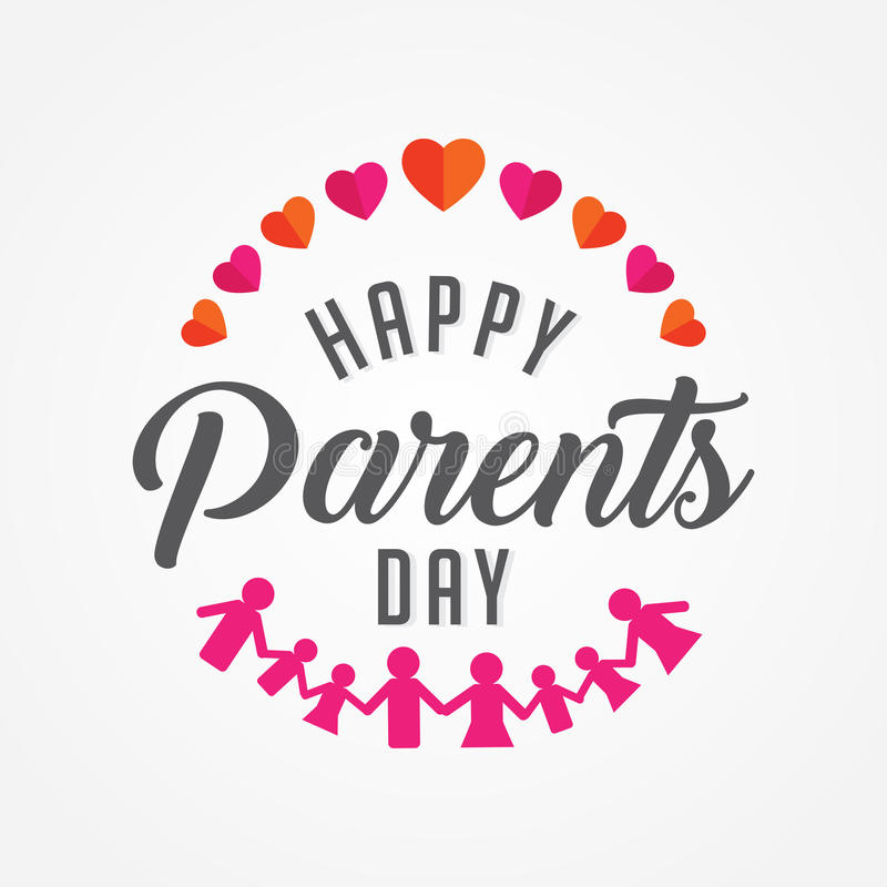 Happy parents day vector illustration