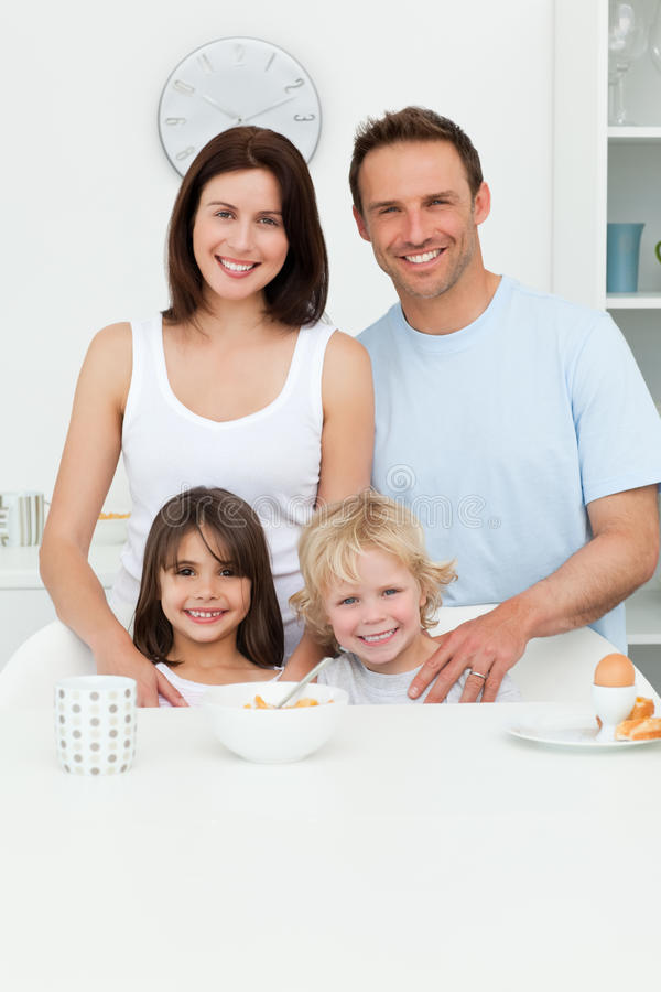 Download Happy Parents Posing With Their Children Stock Photo - Image: 17469408