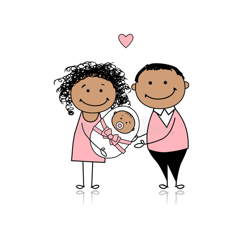 Free Happy Parents With Newborn Baby Stock Photography - 18011162