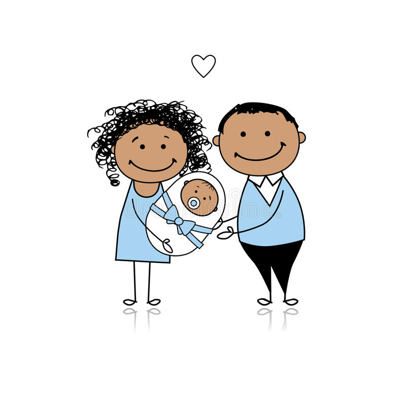 Free Happy Parents With Newborn Baby Royalty Free Stock Image - 18011166
