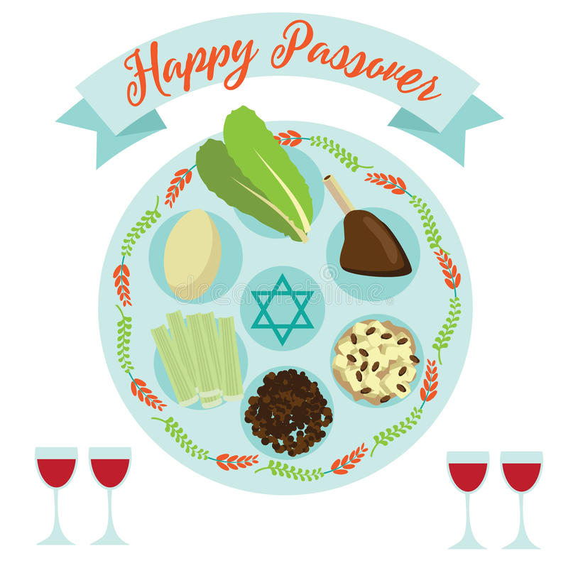 Happy passover seder meal greeting card poster design stock vector download happy passover seder meal greeting card poster design stock vector illustration of maror m4hsunfo Choice Image